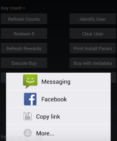 Android Share Sheet